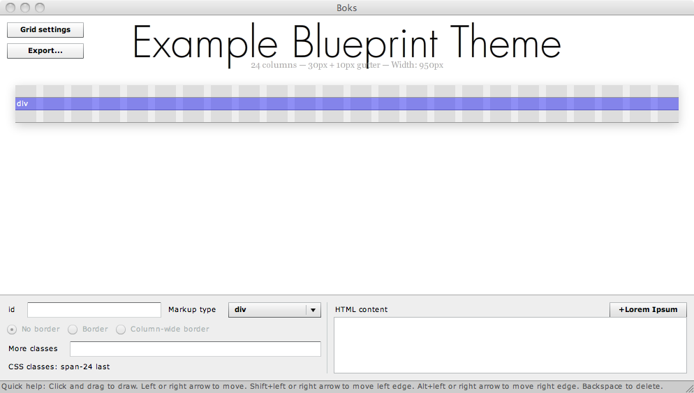 Using boks with the blueprint css framework to create drupal laying out the page visually with boks malvernweather Image collections