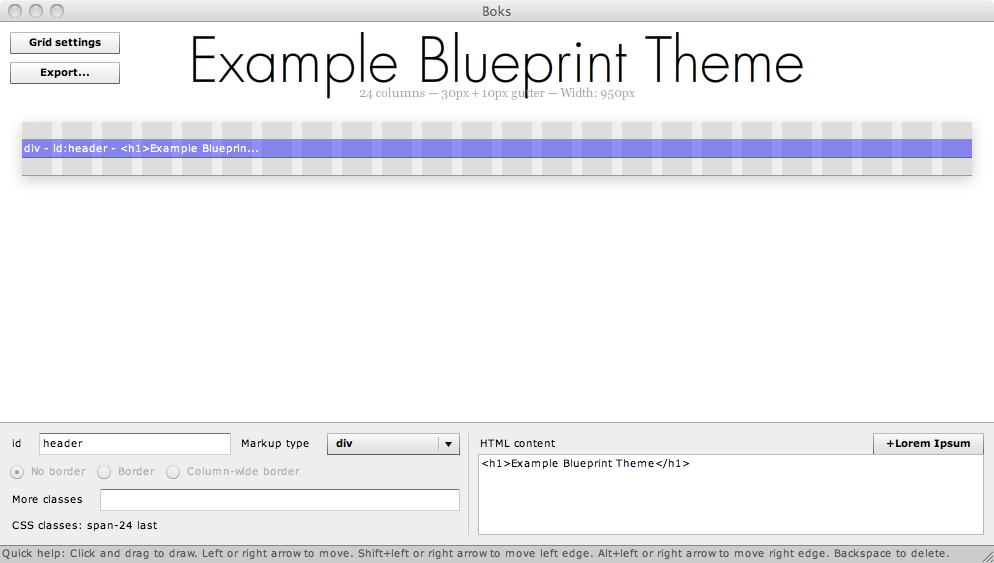 Using boks with the blueprint css framework to create drupal themes this malvernweather Gallery