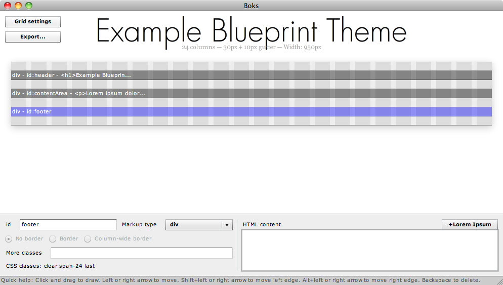Using boks with the blueprint css framework to create drupal themes using boks with the blueprint css framework to create drupal themes part 1 jeff linwood malvernweather Gallery