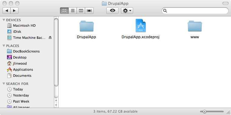 how to create phonegap project