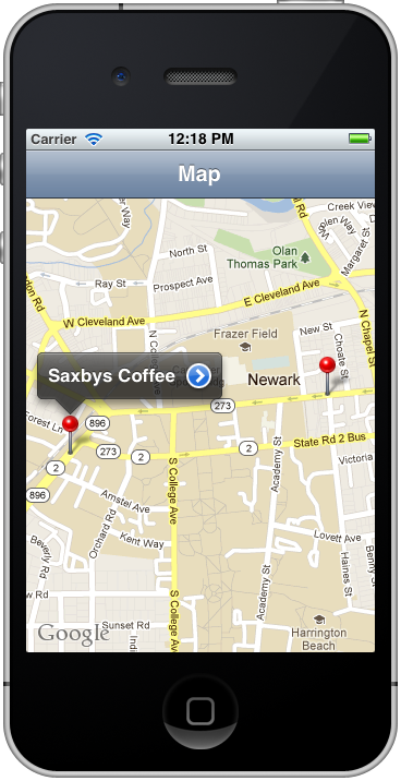 Drupal Map App Map Screen