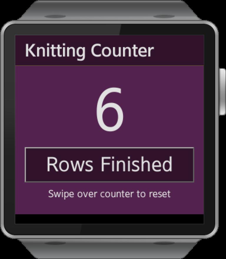 Samsung Gear Smartwatch App Knitting Puppy Row Counter Jeff Linwood